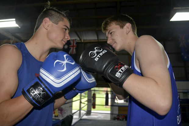 PUNCH ON: Jake Wyllie (Rose City club) and Brodie Fox (Warwick club) hope to be matched in separate divisions on Saturday at WIRAC.