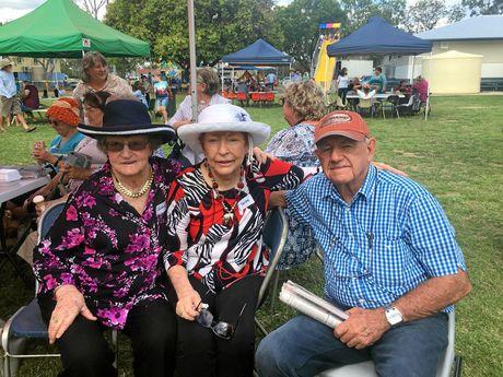 WOWAN MILESTONE: Colleen, Jan and Dick enjoy the festivities at Wowan State School.