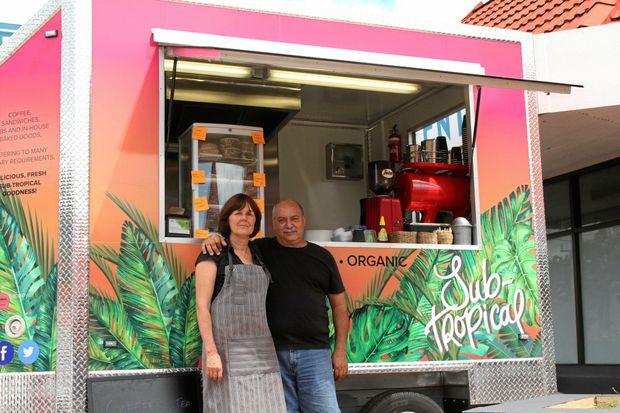 GOOD FOOD: Yvonne and Marino Roberto with their mobile food van.