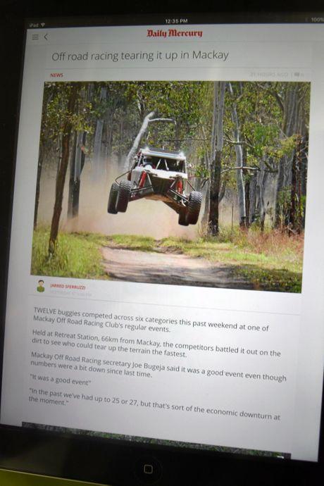 Screenshots of the new Daily Mercury appPhoto Troy Kippen / Daily Mercury