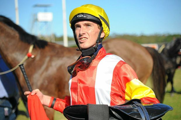 Trainer Brad Herne will pin his hopes Outstrip in the XXXX Gold Lismore Cup. Jockey Ben Looker has the ride