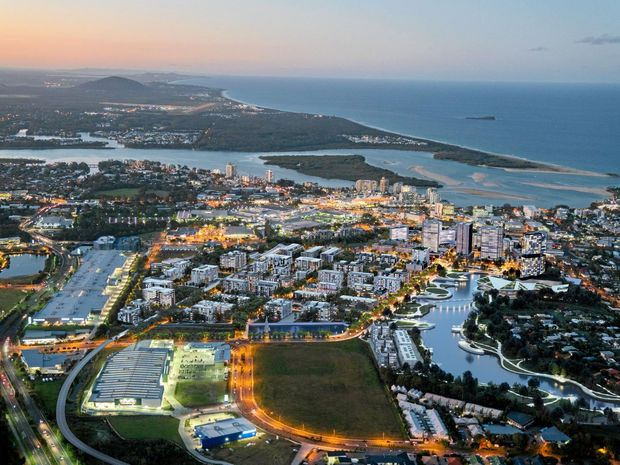 BY NIGHT: Artists' impressions of the planned SunCentral development for the Maroochydore CBD.