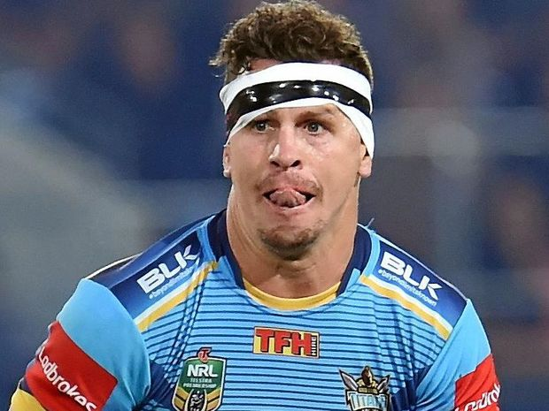 Greg Bird of the Gold Coast Titans in action.