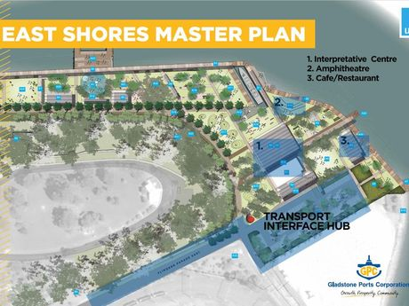 MASTER PLAN: Gladstone Ports Corporation's 'master plan' for the city's cruise ship industry.