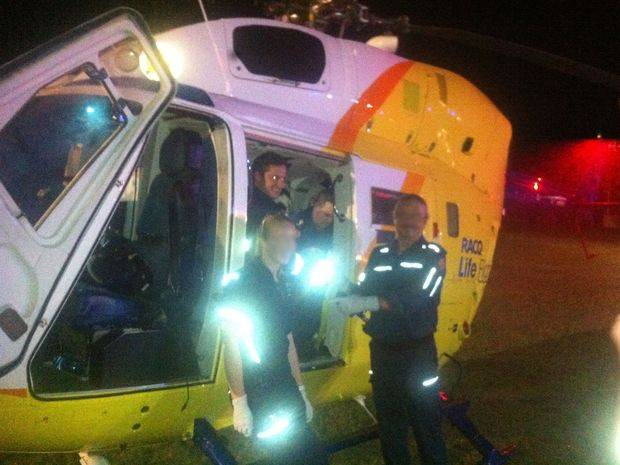 The RACQ LifeFlight Rescue Helicopter took the boy to Lady Cilento Children's Hospital.