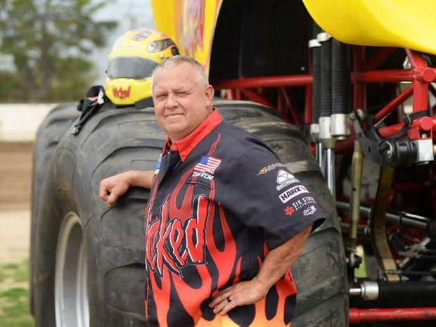 Monster truck driver Kreg Christensen at Rockhampton Showgrounds.Photo Allan Reinikka / The Morning Bulletin