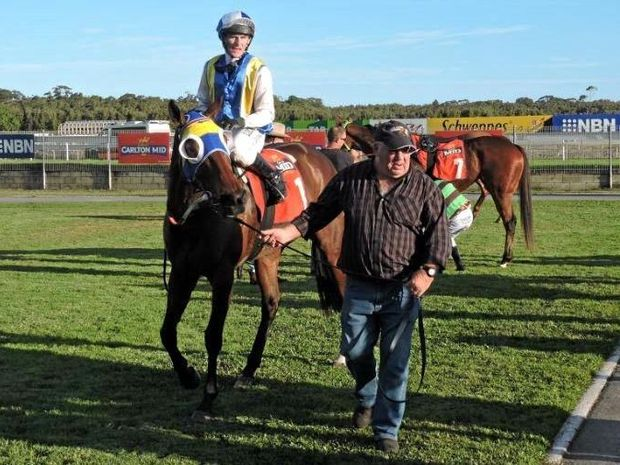 Shazza's Bubbles after winning last year's Sawtell Cup. Will she win again today at Bowraville?