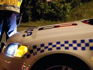 Rogue object flies at Rockhampton police car