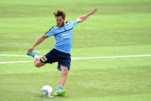 IN FORM: Sydney FC player Joshua Brillante at training this week.