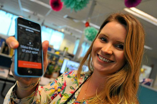LATEST ACTION: Tegan Annett tries out Australian Regional Media's new app.