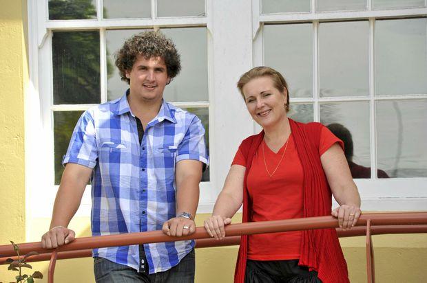 New councillor Hayden Doolan with Cr Danielle Mulholland