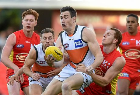 Jeremy Cameron of the Greater Western Sydney Giants will be a constant threat to the Dogs.