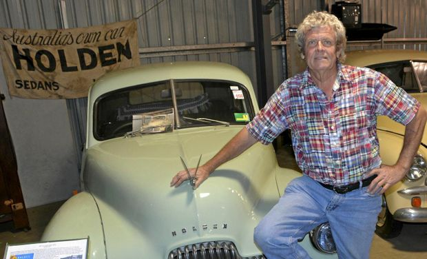NICE RIDE: Roy Gorring is selling off the Queensland Auto Museum's collection of cars.