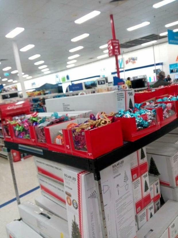 Big W, Lismore, displays Christmas decorations on September 22.