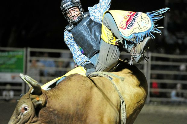 LIVES TO RIDE: Monto's Tyler Morgan doesn't mind if he is bucked. He just wants a chance to get on the bulls.