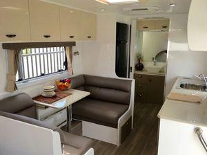 The interior of a Majestic Caravan.
