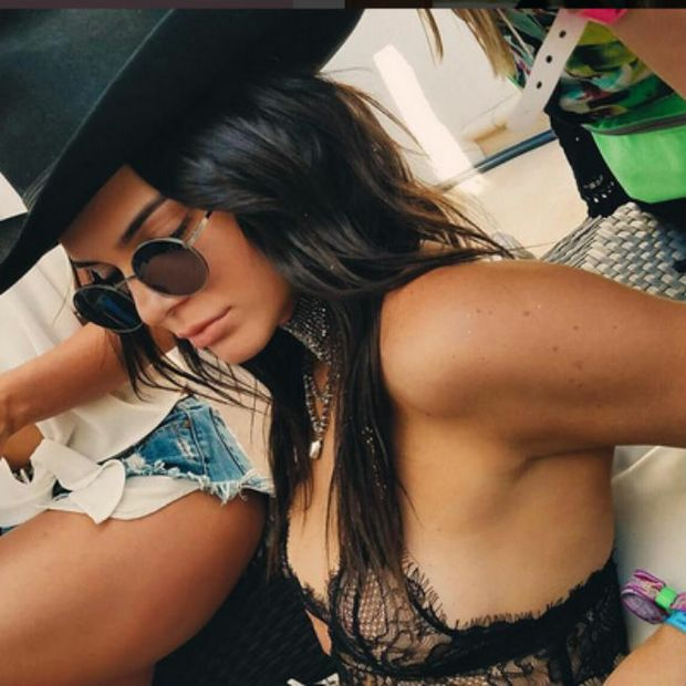 """Kendall Jenner says she is """"all about freeing the nipple"""" and prefers to either go braless or with her lingerie exposed as she likes to show off what's under her clothing."""