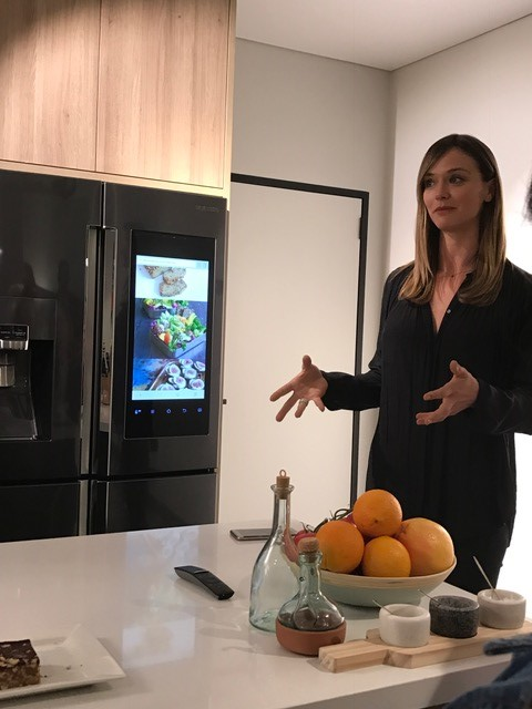 Nutritionist Jacqueline Alwill, of Brown Paper Bag fame, talks about some of her favourite features of the Samsung Family Hub smart fridge.