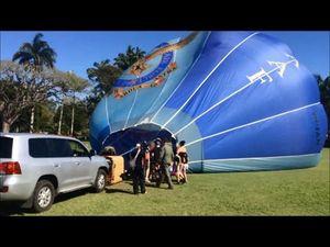 RAAF Balloon Tour Visits Mackay