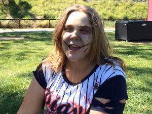 Shania Knight talks about the mental health Zombie Walk