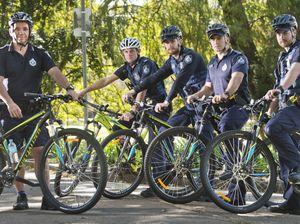 Police mountain bike patrols