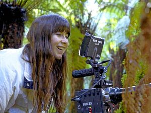 Knockrow wildlife documentary maker Marli Lopez-Hope during filming for The Great Forest
