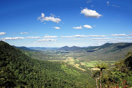 The view from the Eungella Chalet.