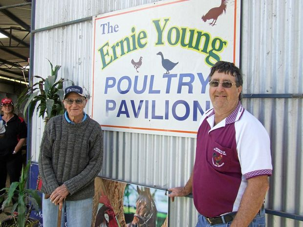 POULTRY PASSION: Southern Downs Poultry Club Life Member Ernie Young and Club President Keith Young say preparations are well in place for this Sunday's Annual Poultry Auction.
