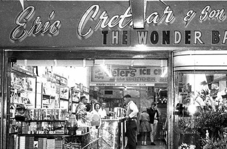 An early photo of the Wonder Bar.