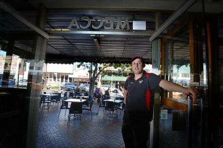 Owner of the Mecca Cafe in Lismore, Todd McLean.