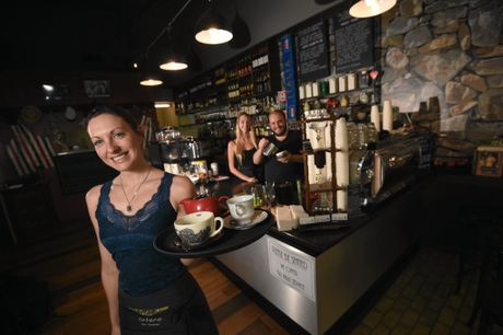 Cafe Cappello co-owner Tamaya Rose, seen with employees Jessica Hughes and Jesse Matthews.