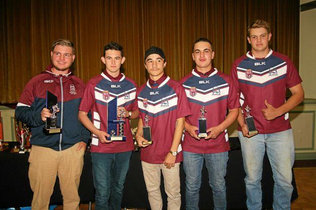 Bushrangers players Zac Willis, Declan Spencer, Braden Carmody, Michael Marini, Michael Parnell and Jacob Adams (absent) won awards.