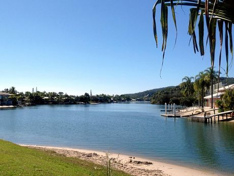 There's lots of parks that would make the perfect spot for a wedding at Noosa Sound.