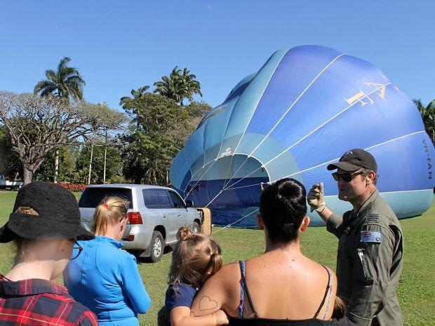 Flight Lieutenant Gary Maxwell speaks about the Royal Australian Air Force balloon.