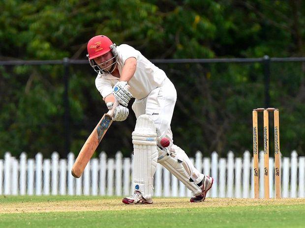 Cricket, Queensland Premiere Grade, Sunshine Coast v Ipswich at Buderim. Scorchers batsmen Sam Gardiner in action.  Photo: Che Chapman / Sunshine Coast Daily