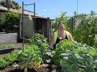 GARDEN GROW: Jenny Creed in the thriving FoodAssist garden in Percy St.