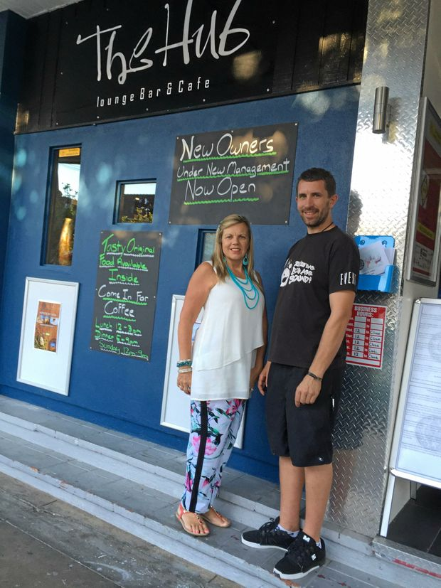Mother and Son team, Jenni Maynard and Nathan Falk outside The Hub, Lismore's newest entertainment venue