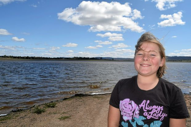 Alyssa Nash from Laidley was enjoying the water at Leslie Dam.