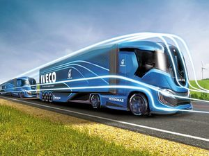 GREEN RIG: Isuzu Z Truck is a zero CO2 emissions autonomous truck.