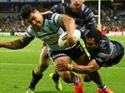North Queensland's NRL premiership defence is over after the Cowboys slumped to a 32-20 defeat to Cronulla.
