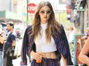GIGI Hadid has defended herself after she was accused of lashing out at a fan in Milan.