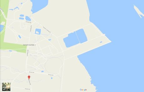 Emergency services are at the scene of an ammonia vapour leak at Fishermans Landing Wharf behind Cement Australia.