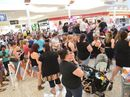 Huge crowds turned up at Stockland Sugarland on Saturday to see Home and Away stars Scott Lee and Rochel Banno and international model Madeline Stuart.