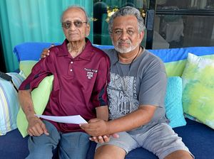 Surgeon Krishna Rau is fighting immigration to keep his 91 year old father, Timmy,  in Australia. Photo: Warren Lynam / Sunshine Coast Daily
