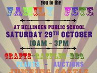 Entertainment, activities, food and beverages will be organised for a fete fundraiser for Bellingen Public School and its community.