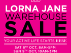 You asked for it IPSWICH…  The Lorna Jane WAREHOUSE SALE is coming to you! UP TO 60% OFF activewear, giveaways & more!