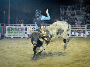 Bull riding at the Calliope