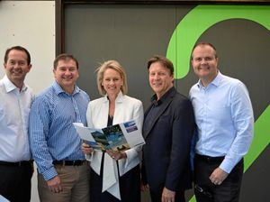 TEAM MEETING: MP Andrew Wallace, MP Llew O'Brien, Senator Fiona Nash, Mayor Tony Wellington and MP Ted O'Brien.