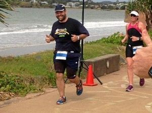 RUNNING MAN: Asher Roby competes in the Yeppoon Triathlon in August.