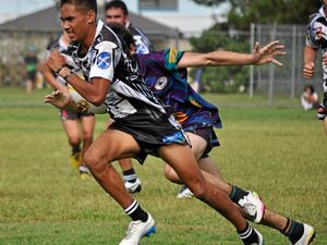 BURSTING THROUGH BARRIERS: Lower Clarence Magpies fullback Daine Laurie has opened up a pathway to the top echelon of Australian rugby league earning a contract with the Penrith Panthers Under 20s side.
